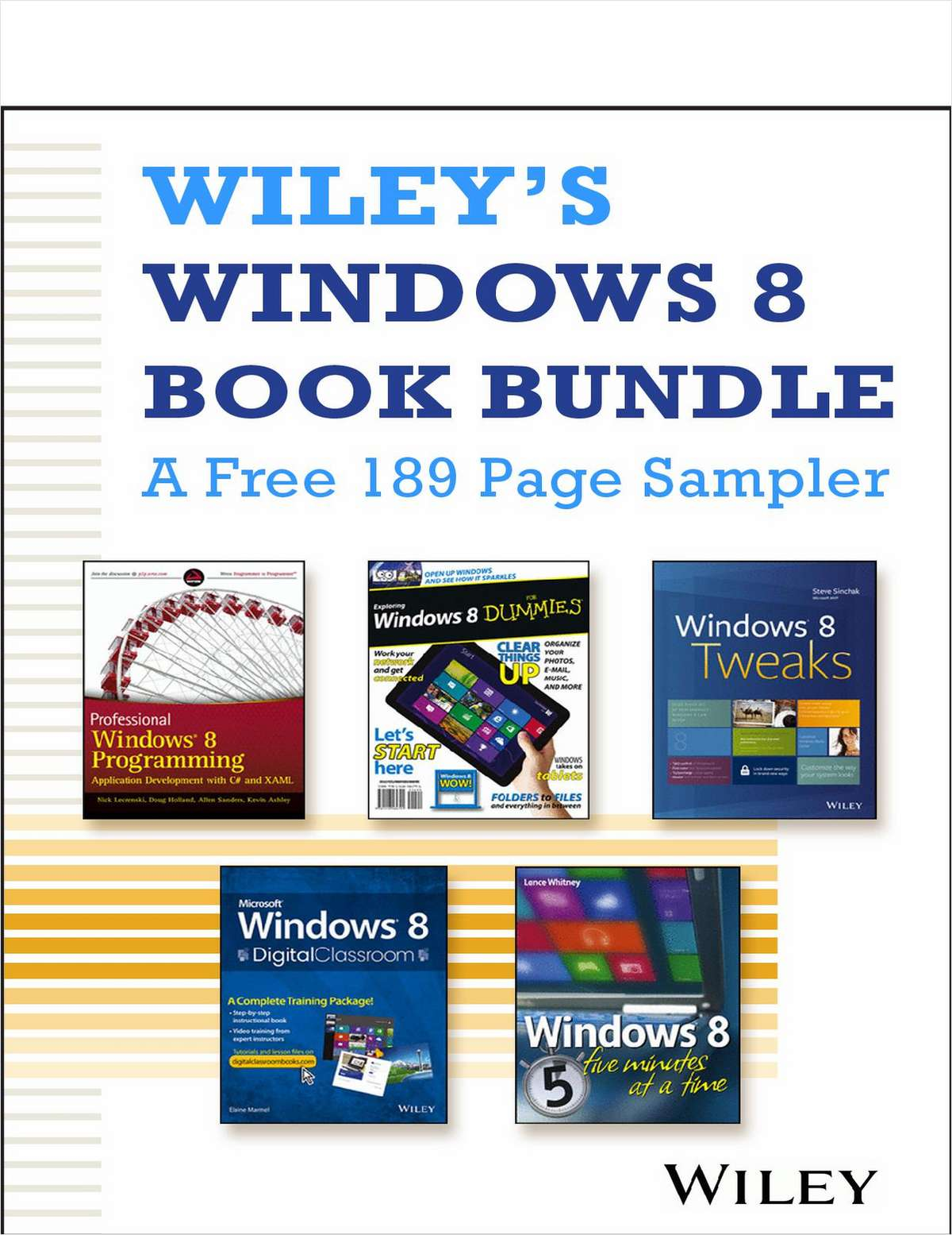 Wiley's Windows 8 Book Bundle -- A Free 189 Page Sampler