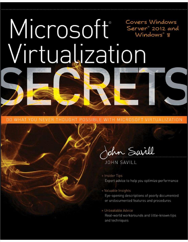 Microsoft Virtualization Secrets--Free Sample Chapter