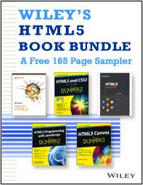 Wiley's HTML5 Book Bundle -- A Free 165 Page Sampler