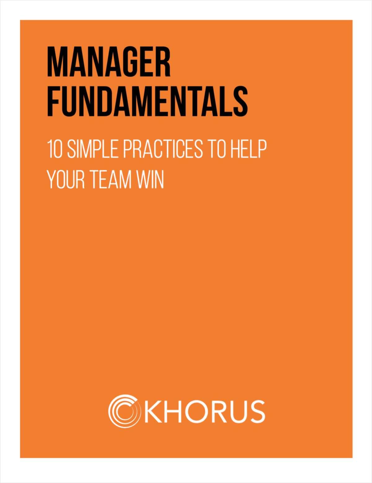Manager Fundamentals