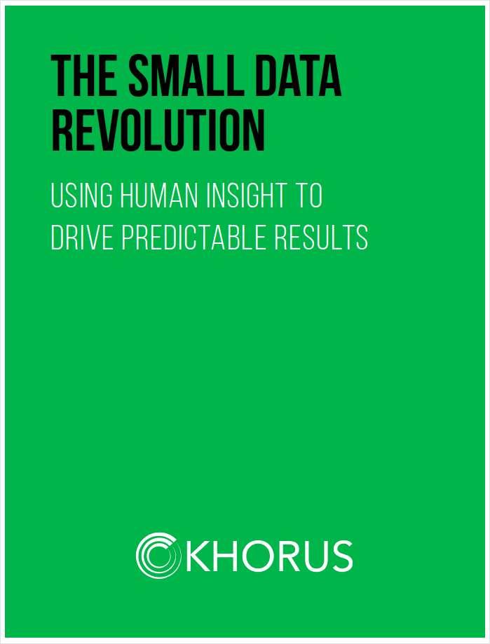 The Small Data Revolution