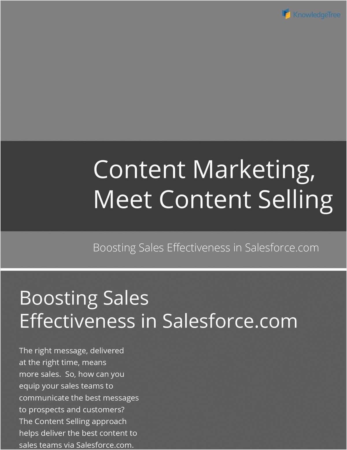 Content Marketing Meet Content Selling