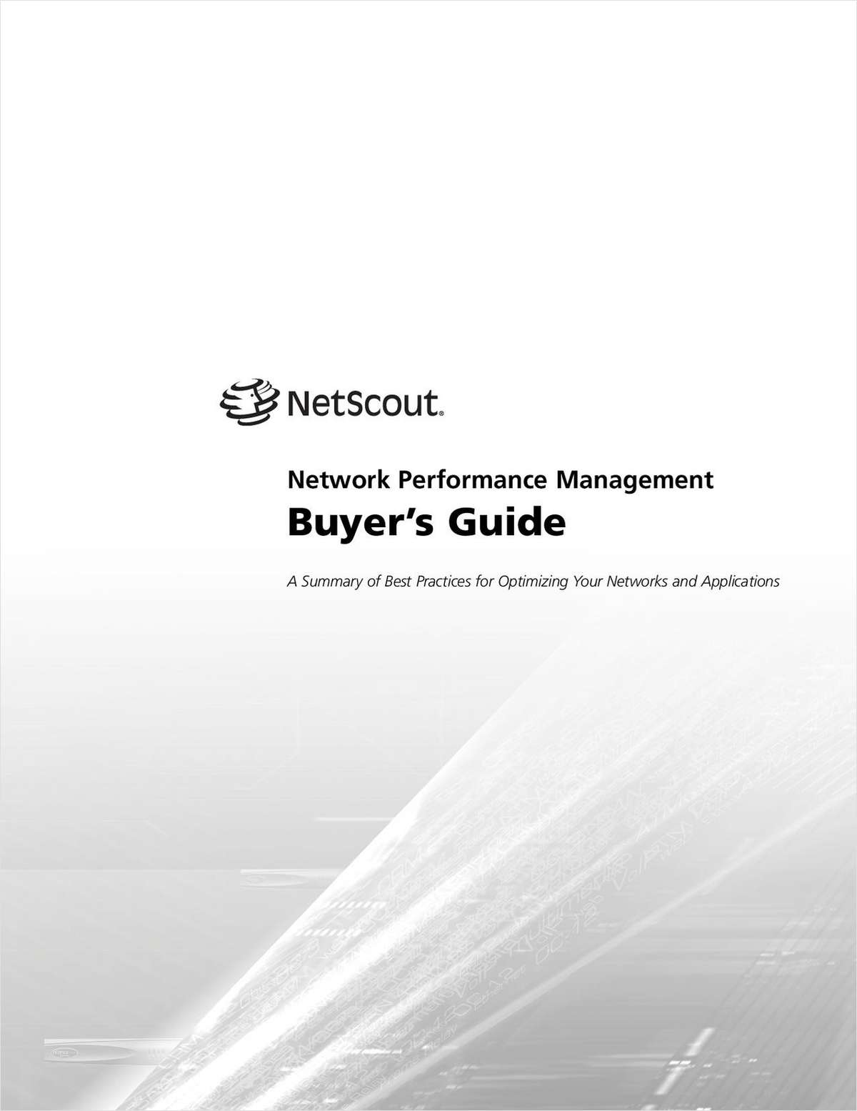 Application and Network Performance Management Buyer's Guide