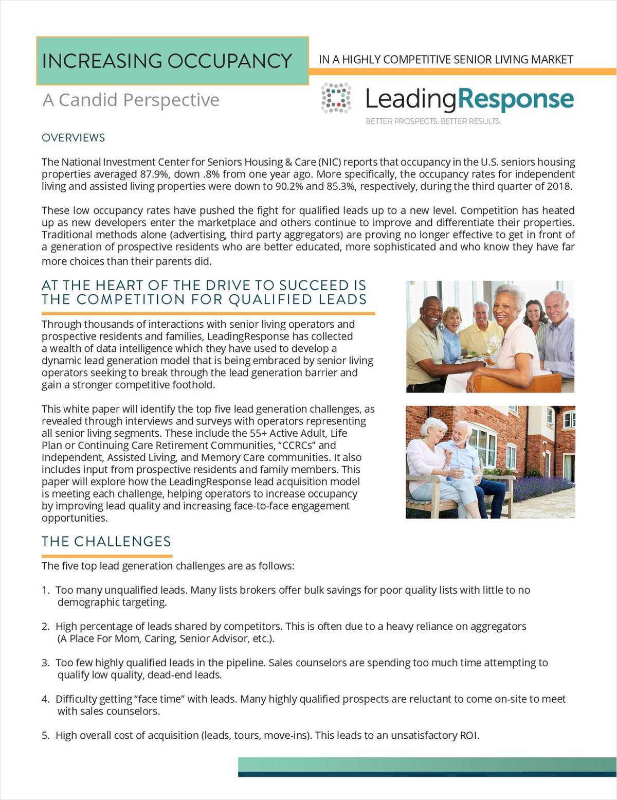 Increasing Occupancy In A Highly Competitive Senior Living Market