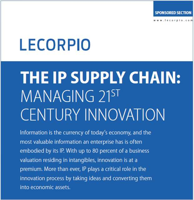 The IP Supply Chain: Managing 21st Century Innovation
