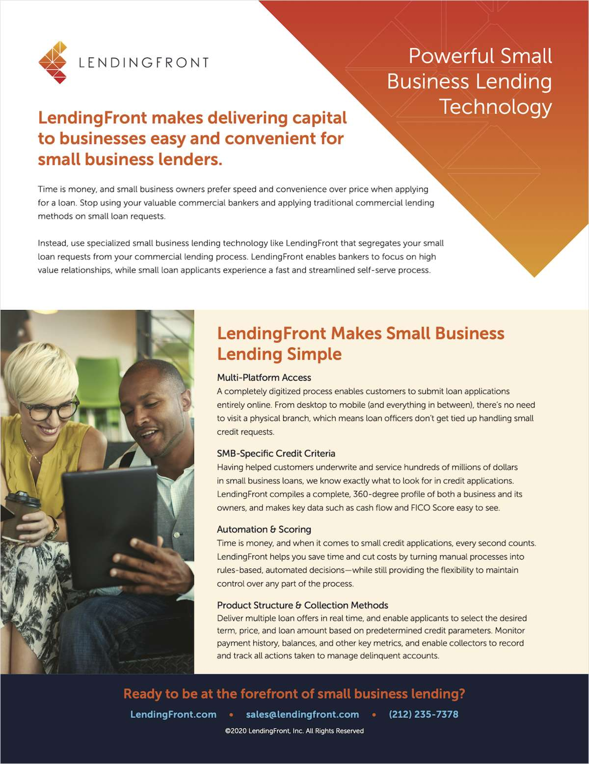 Your Guide to LendingFront: Powerful Small Business Lending Technology