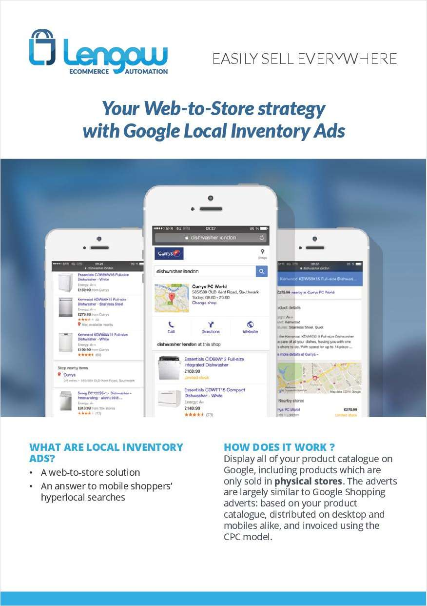 Your Web-to-Store strategy with Google Local Inventory Ads