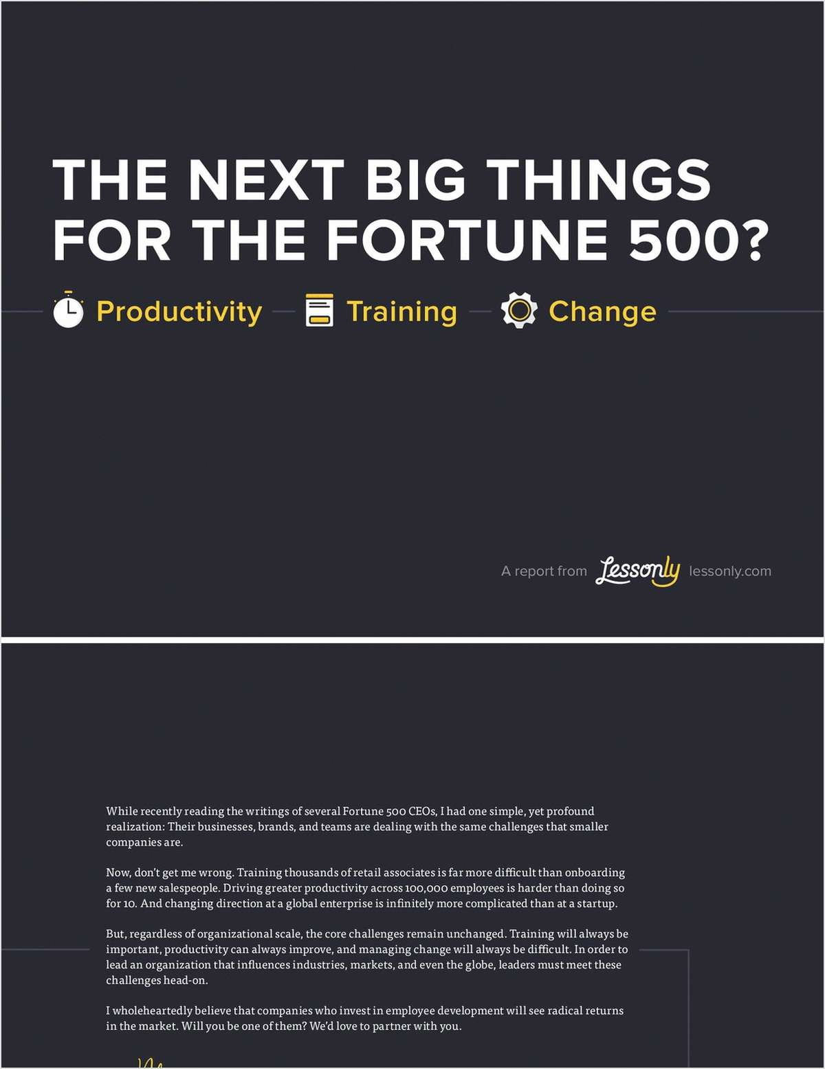 The Next Big Things for the Fortune 500?