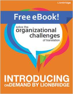 Solve the Organizational Challenges of Translation