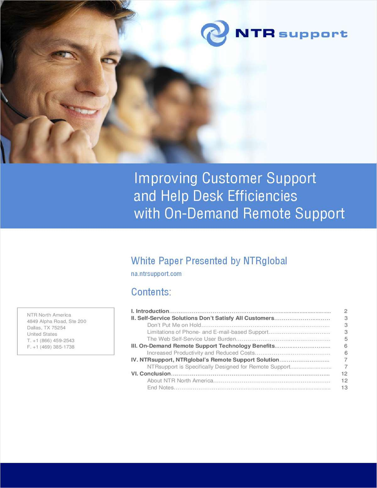 Improving Customer Support and Help Desk Efficiencies