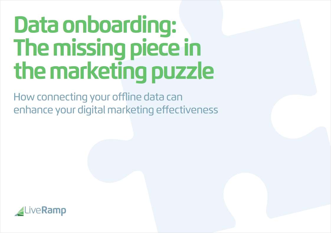 Data Onboarding: The Missing Piece in the Marketing Puzzle