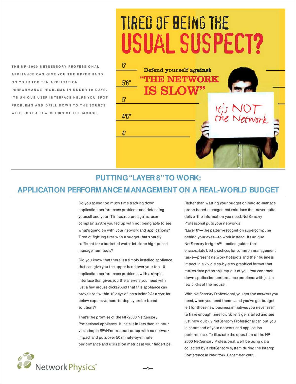 "Putting ""Layer 8"" to Work: Application Performance Management on a Real-World Budget"