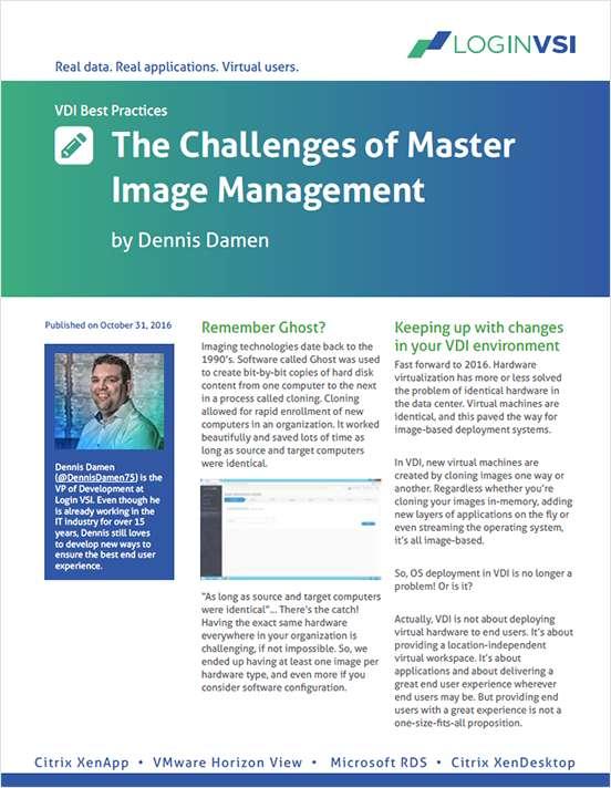 The Challenges of VDI Master Image Management