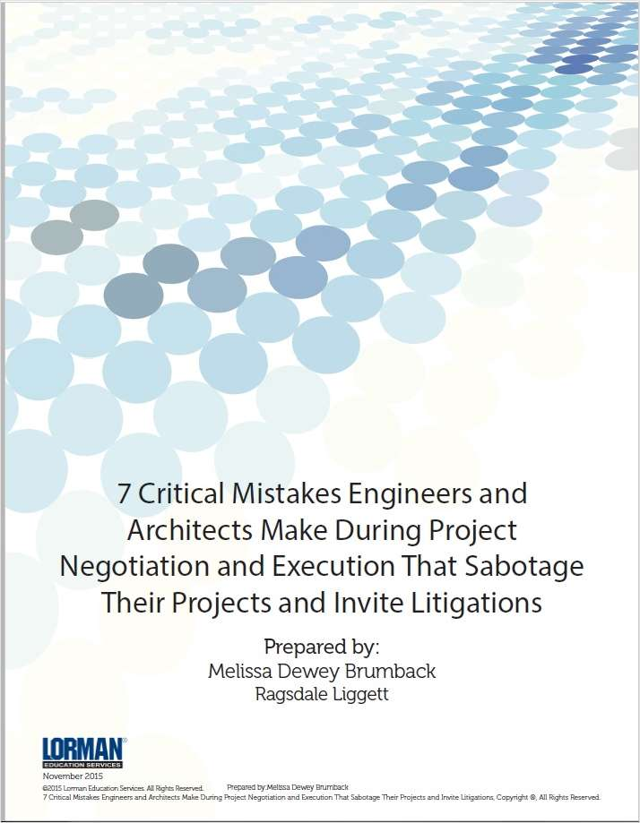 7 Critical Mistakes Engineers and Architects Make During Project  Negotiation and Execution That Sabotage  Their Projects and Invite Litigations