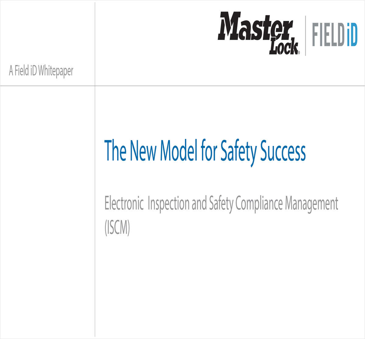 The New Model for Safety Success