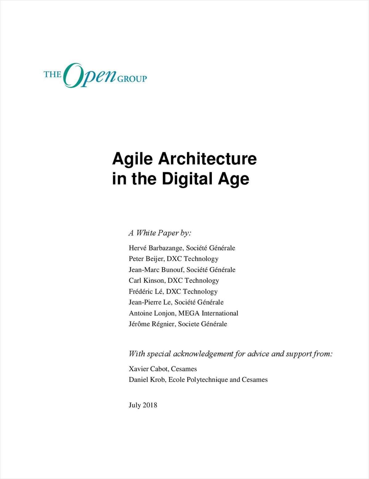 AGILE ARCHITECTURE IN THE DIGITAL AGE