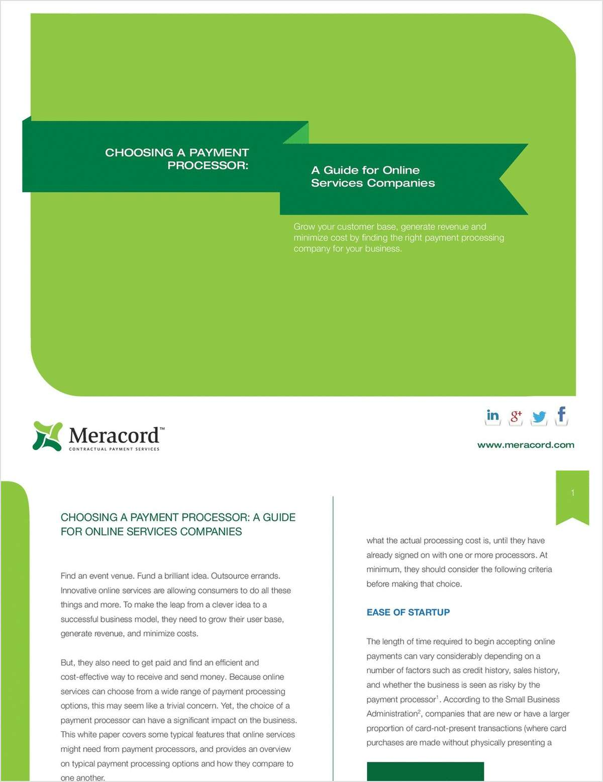 Choosing a Payment Processor: A Guide for Online Services Companies