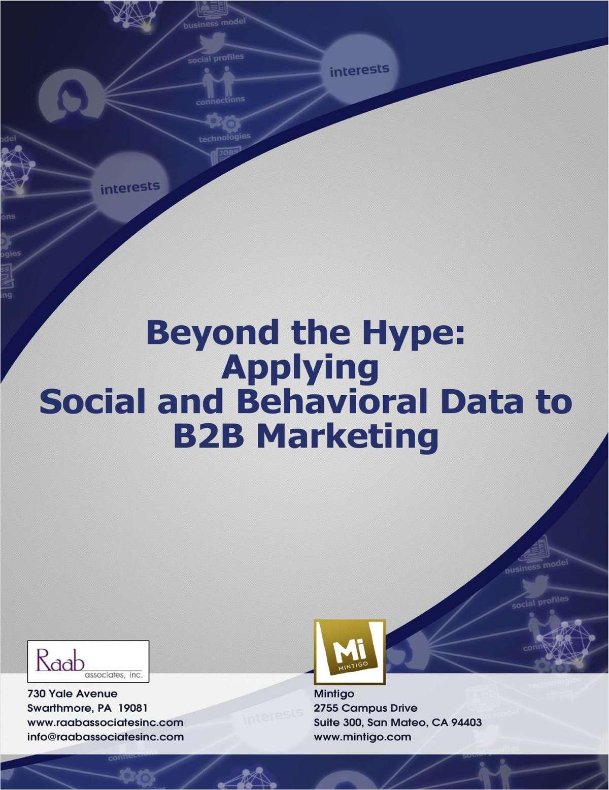 Applying Social & Behavioral Data To B2B Marketing