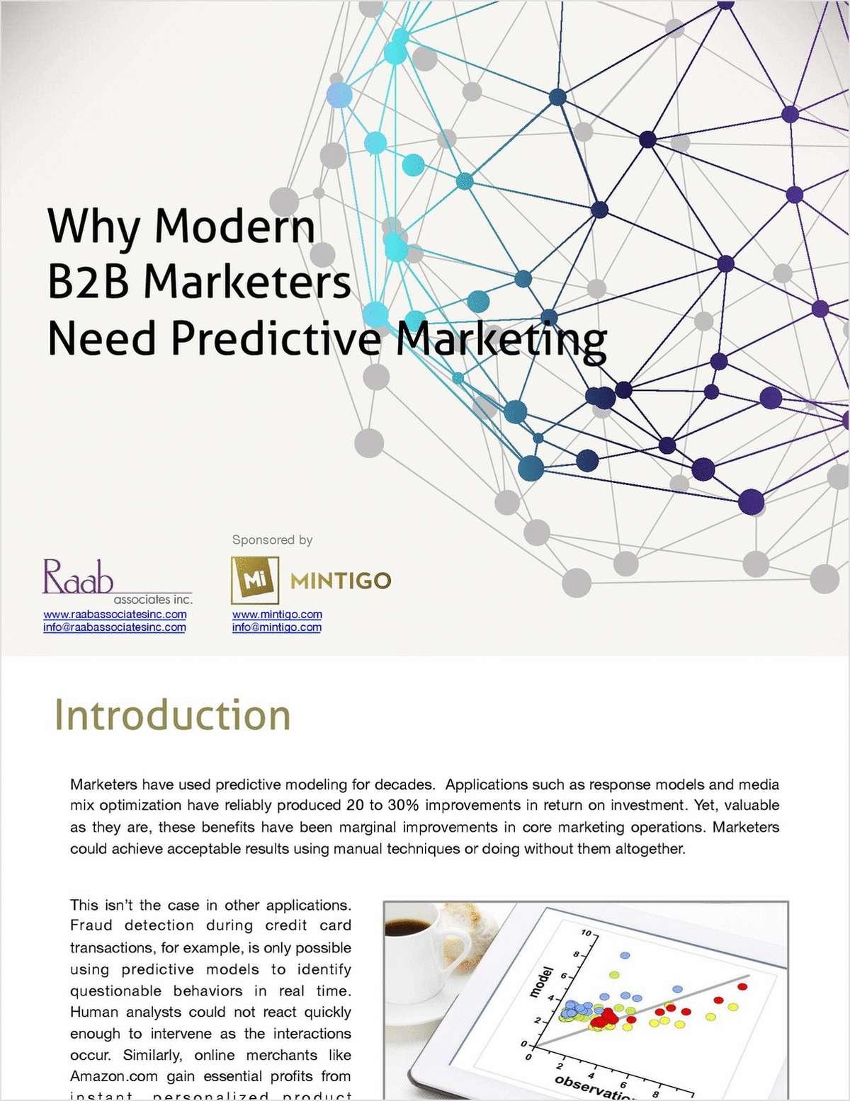 Why Modern B2B Marketers Need Predictive Marketing