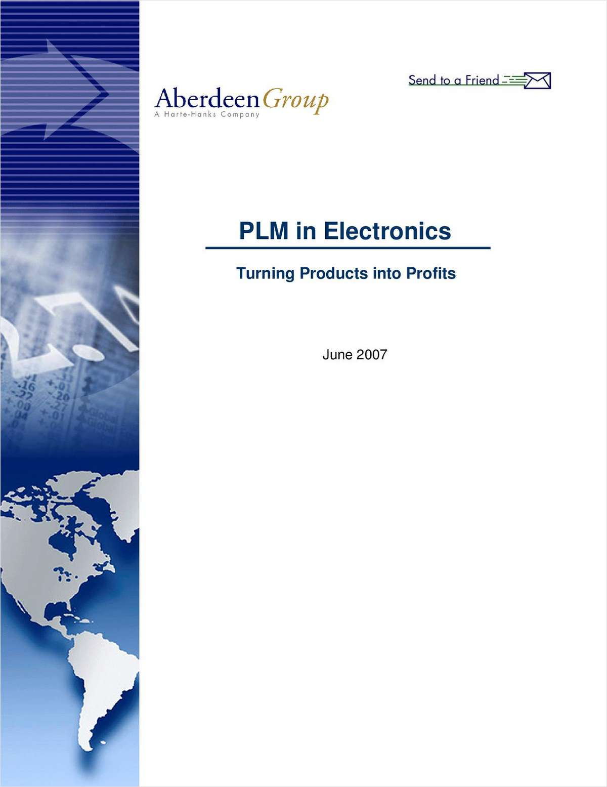 PLM in Electronics Report; Turning Products into Profits