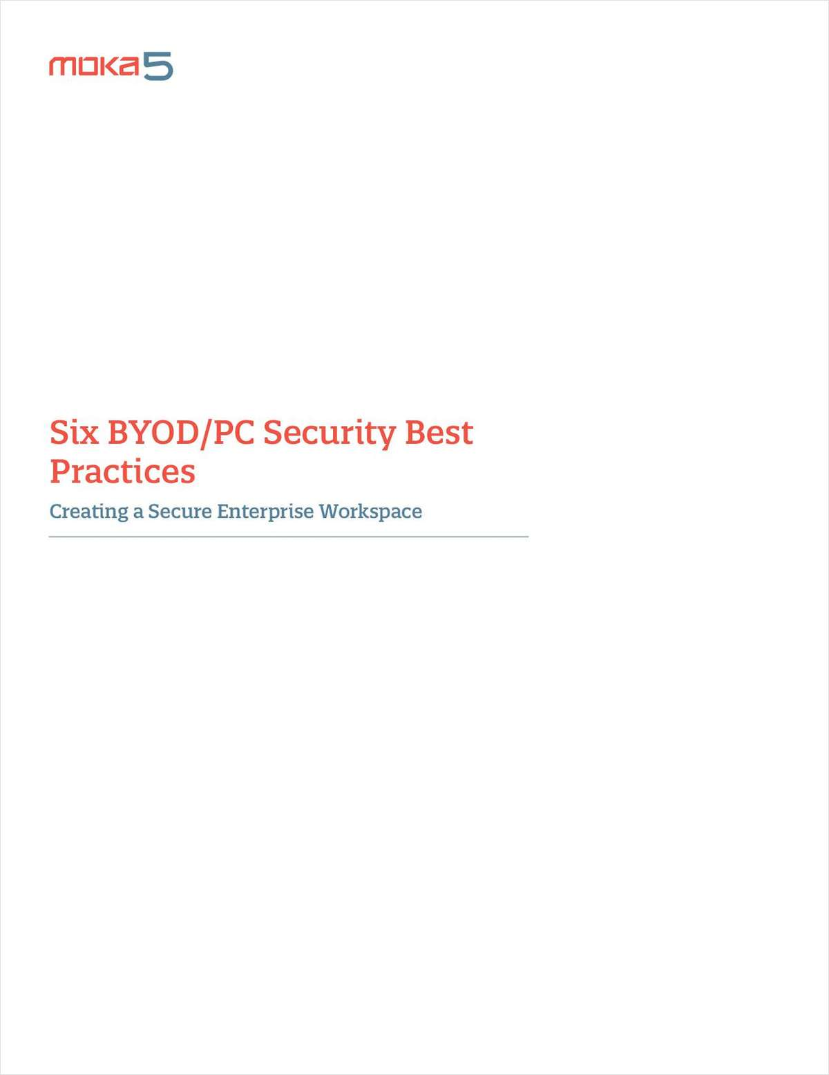 Six BYOD/PC Security Best Practices