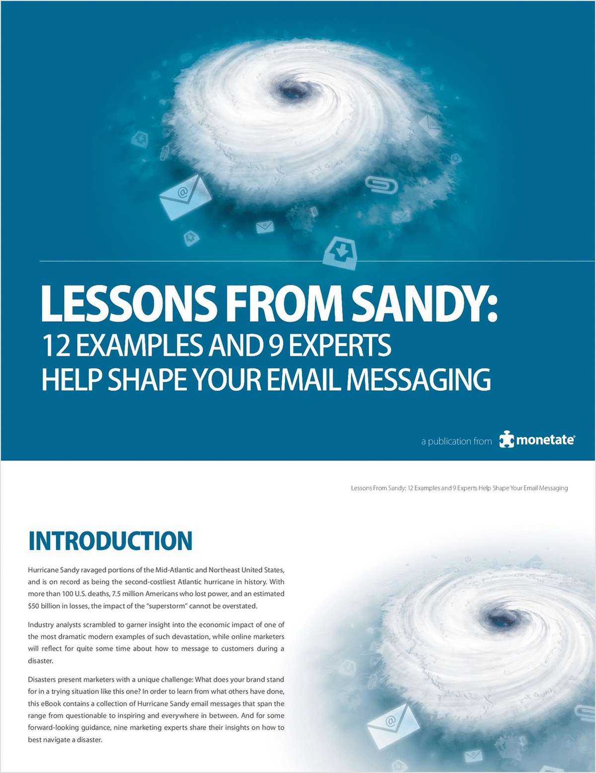 Lessons From Sandy:  12 Examples and 9 Experts Help Shape Your Email Messaging