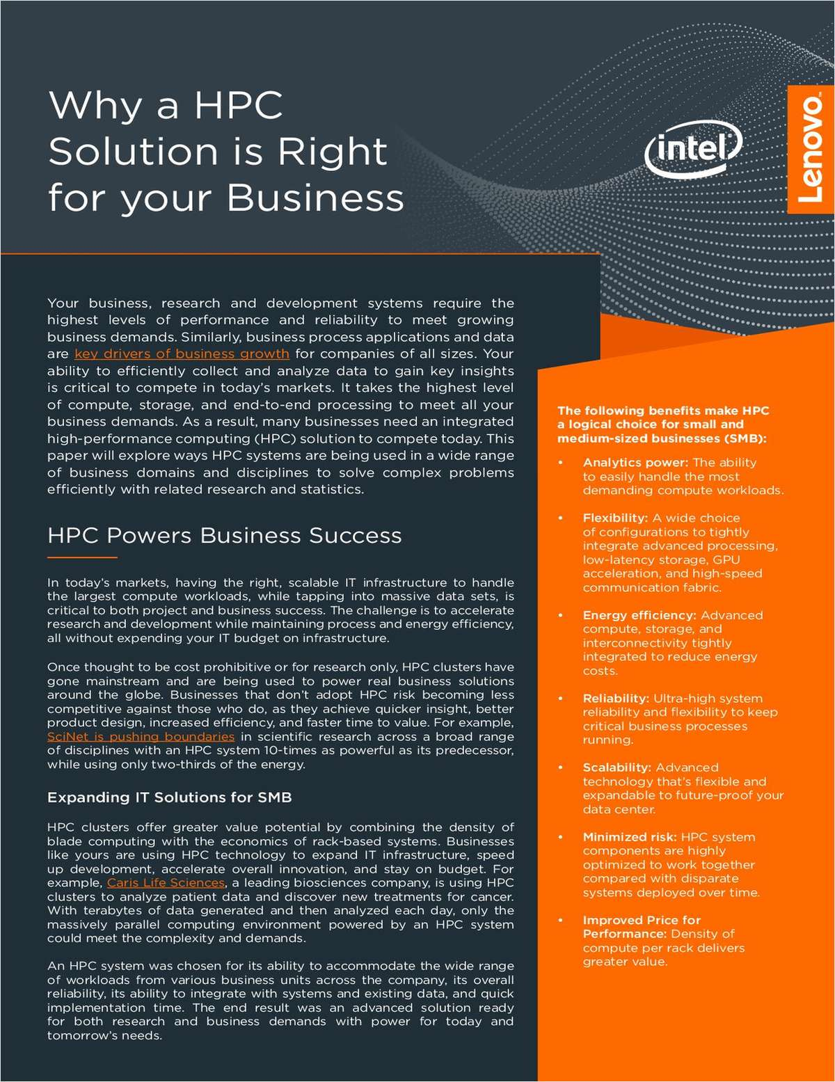 Why a HPC Solution is Right for Your Business