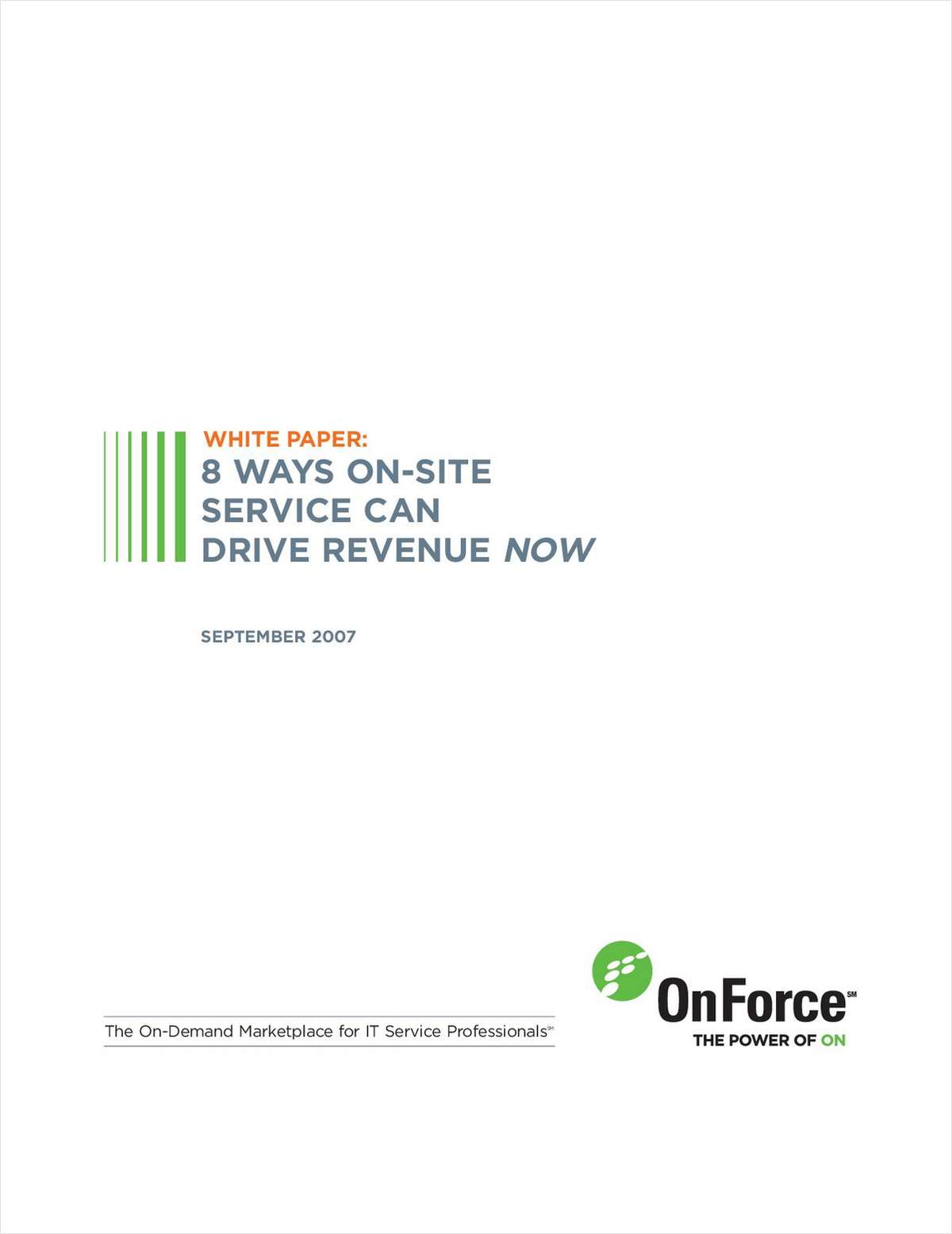 8 Ways On-Site Service Can Drive IT Solution Provider Revenue