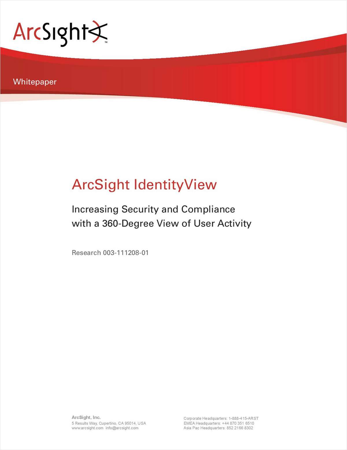 Increasing Security and Compliance with a 360-Degree View of User Activity