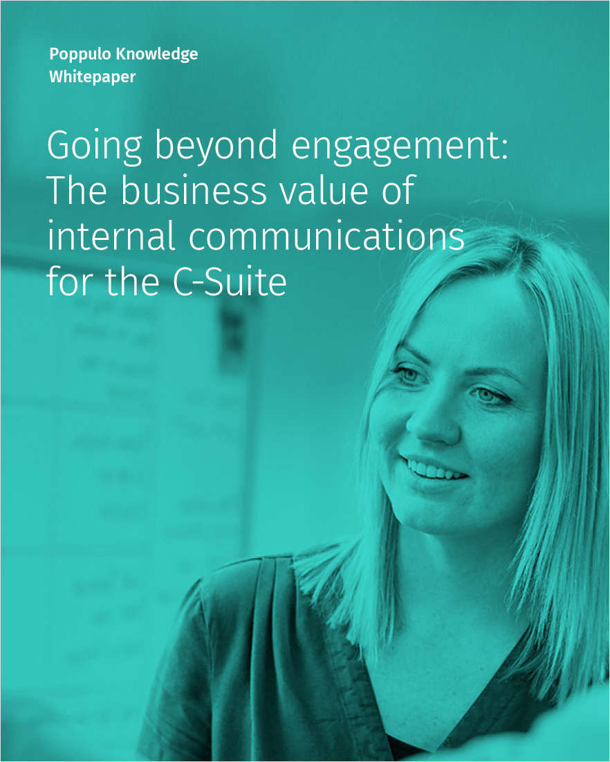 The Business Value of Internal Communications for the C-Suite