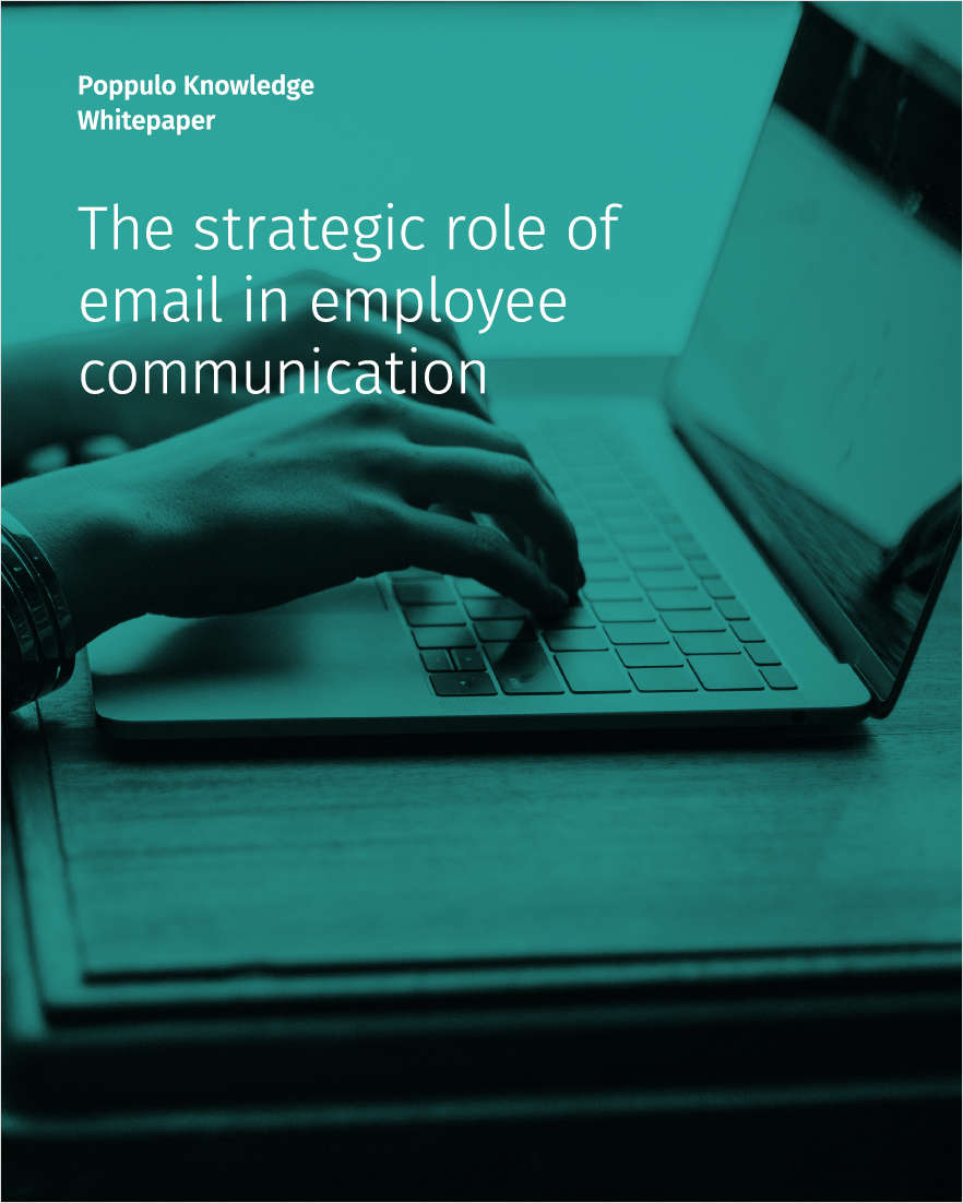 The Strategic Role of Email in Employee Communication