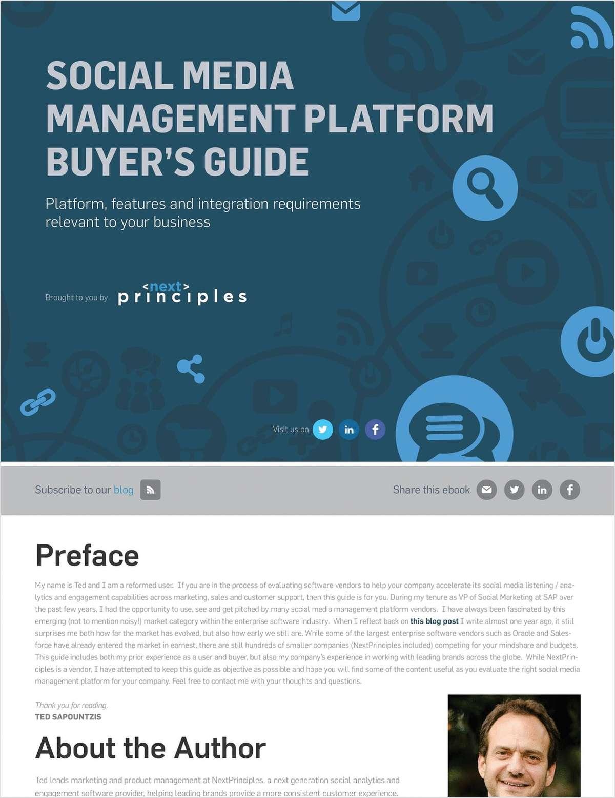 Social Media Management Platform Buyer's Guide