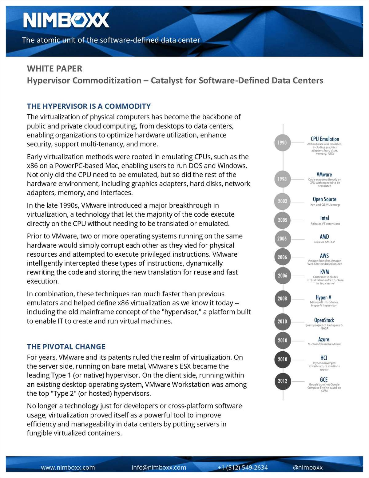 Hypervisor Commoditization: Catalyst for Software-Defined Data Centers
