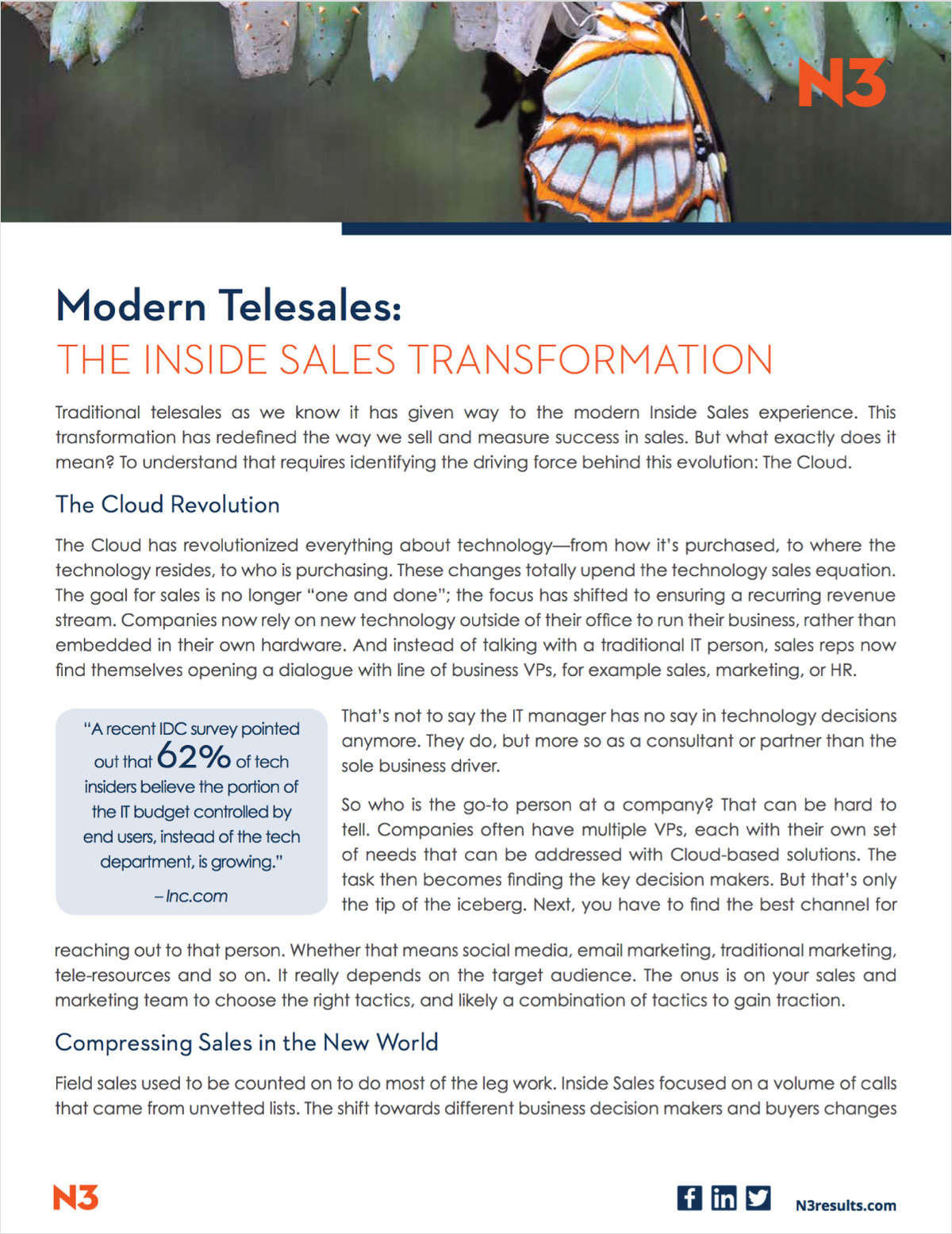 The Cloud Inside Sales Transformation