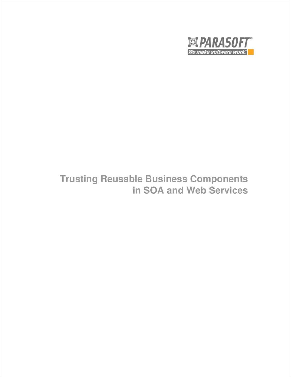 Trusting Reusable Business Components in SOA and Web Services