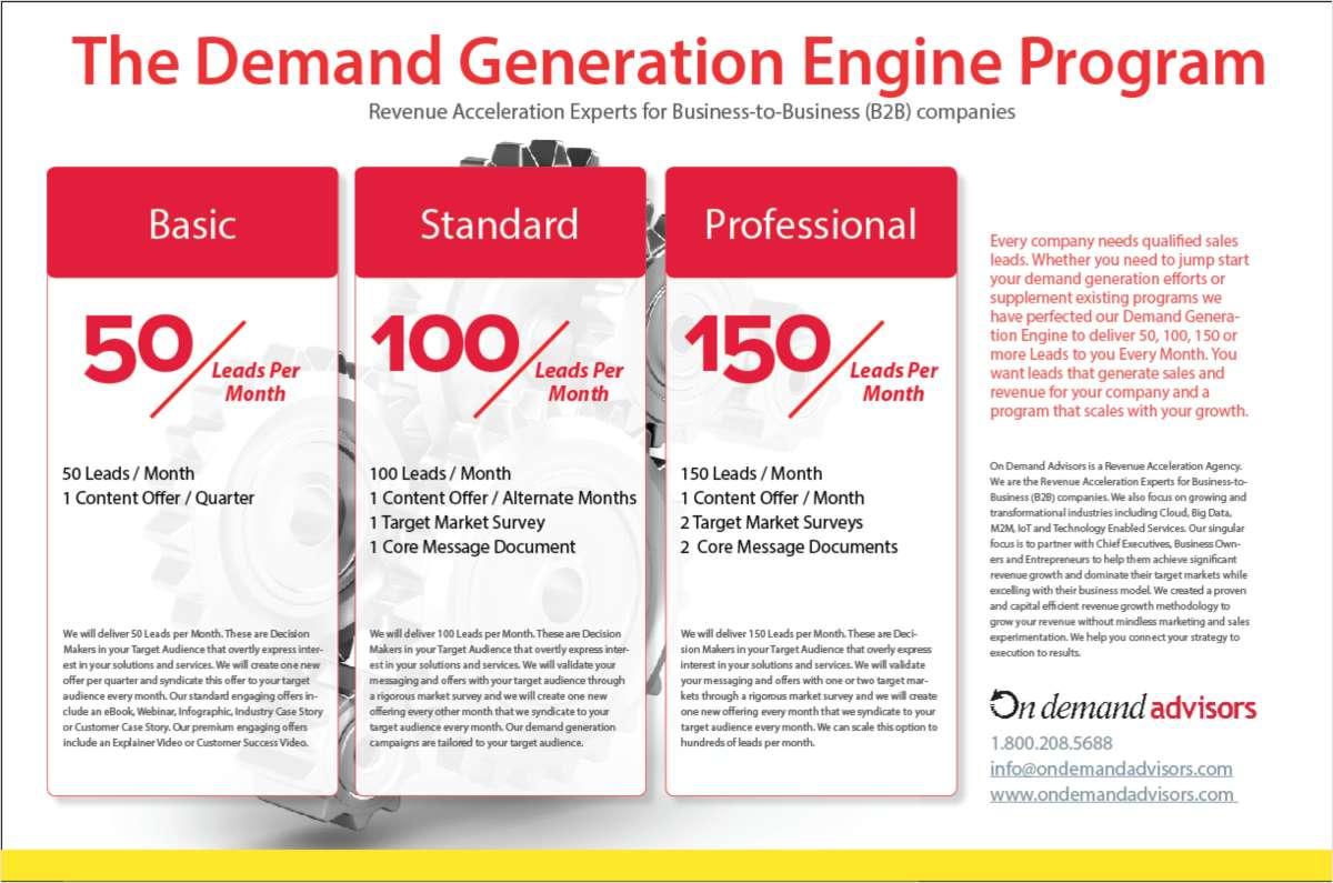 The Demand Generation Engine Program