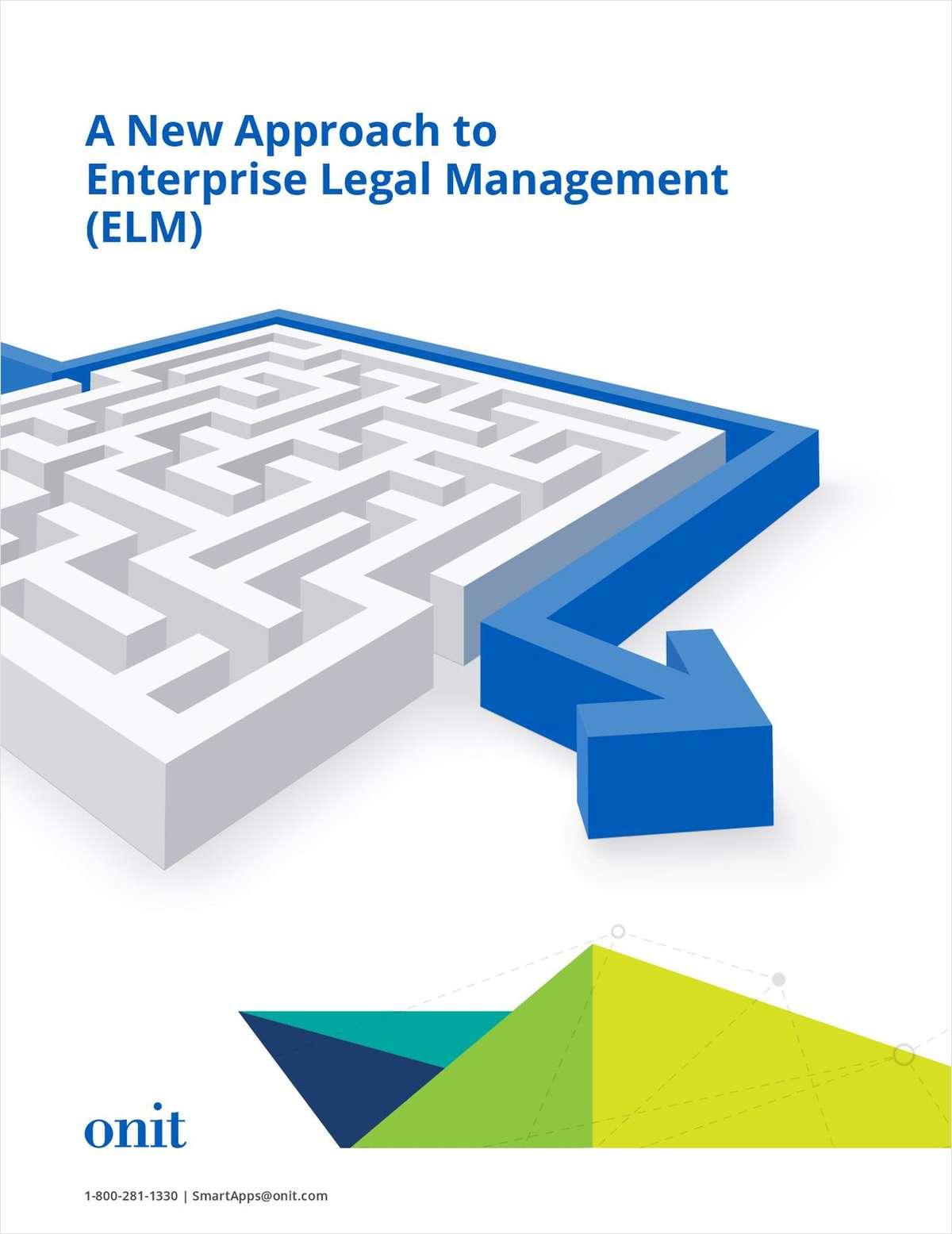 A New Approach to Enterprise Legal Management
