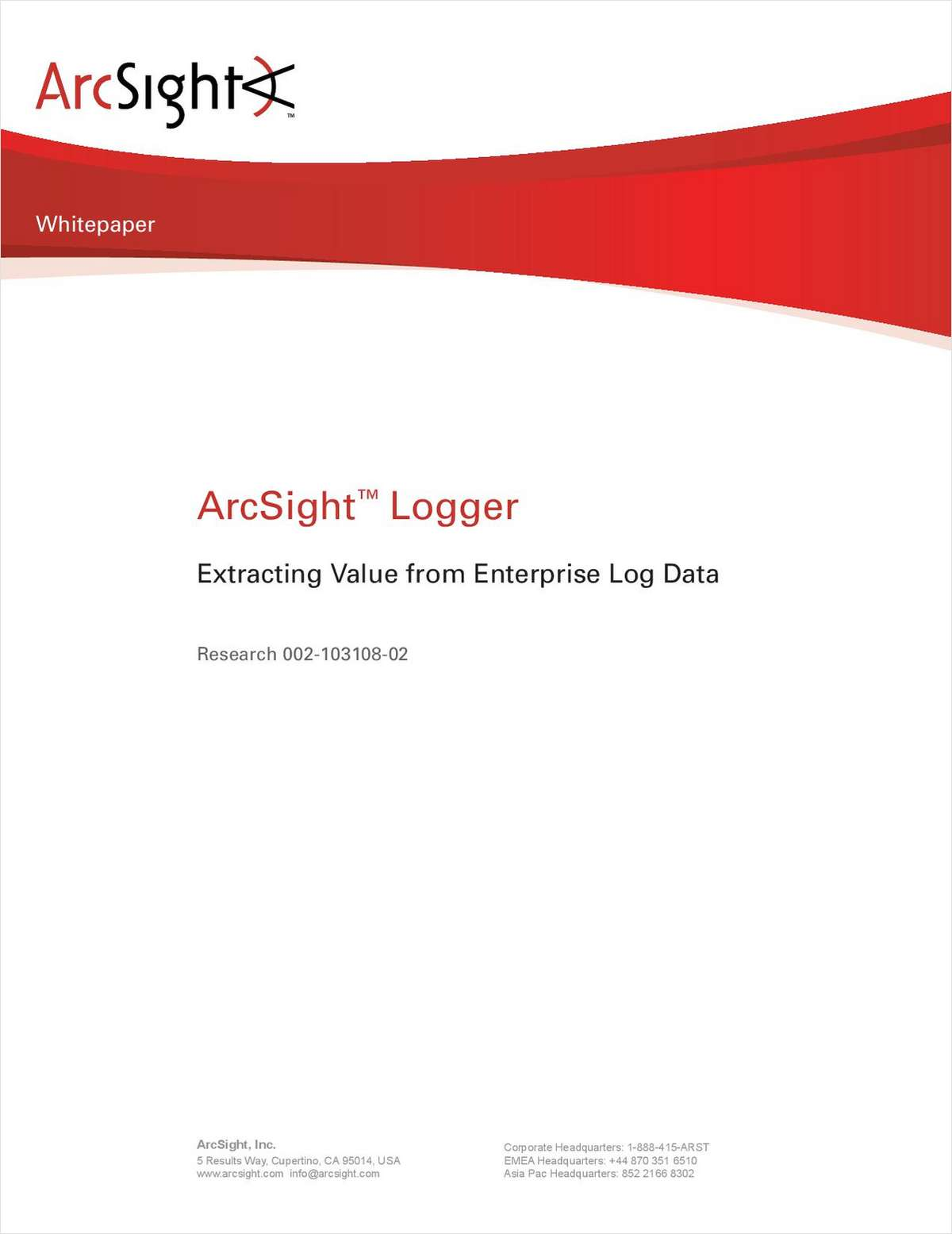 Extracting Value from Enterprise Log Data