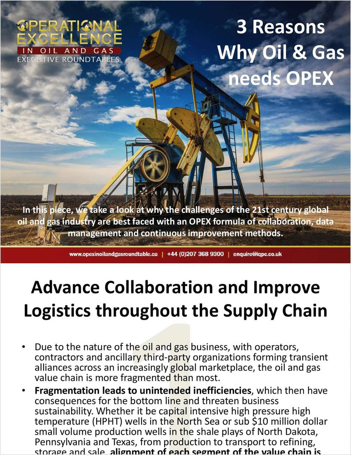 3 Reasons Why Oil and Gas Needs OPEX