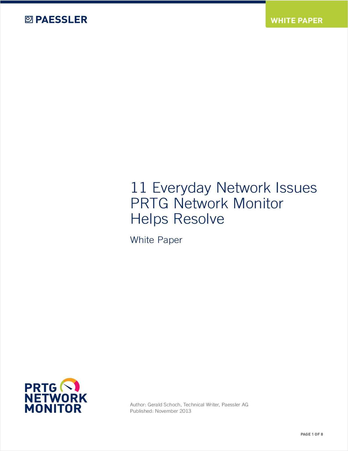 11 Everyday Network Issues PRTG Network Monitor Helps Resolve