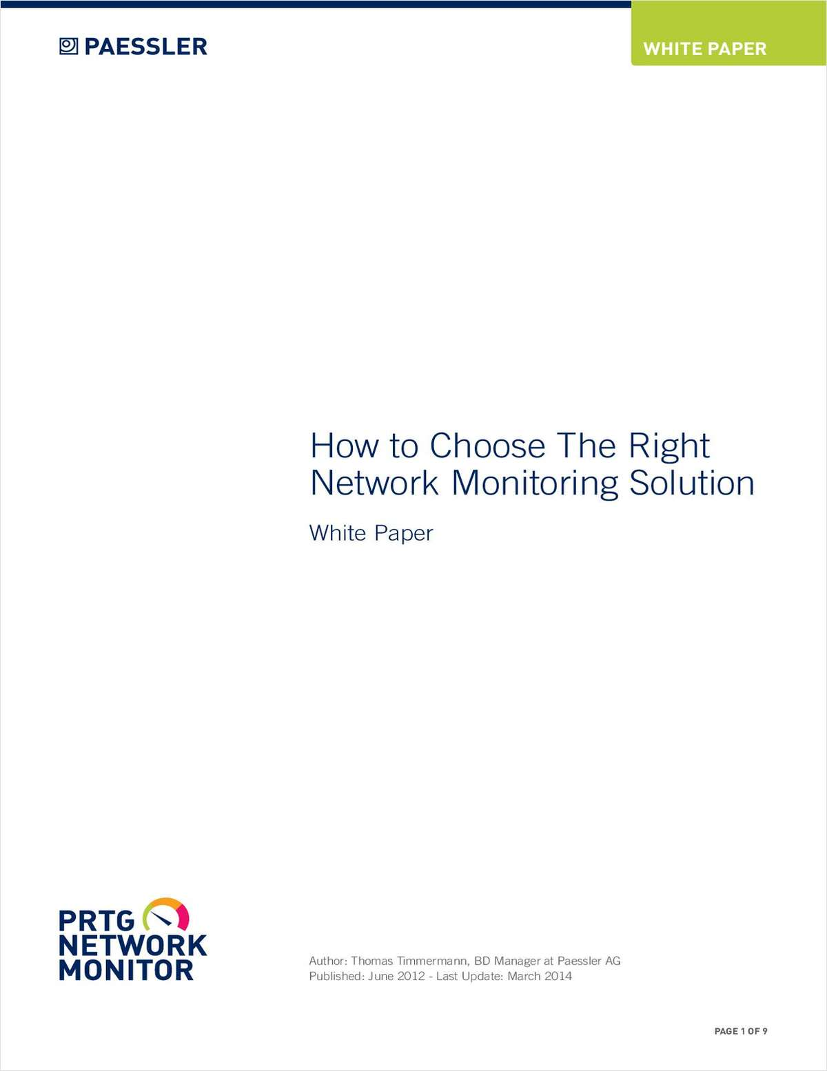 How To Choose The Right Network Monitoring Solution