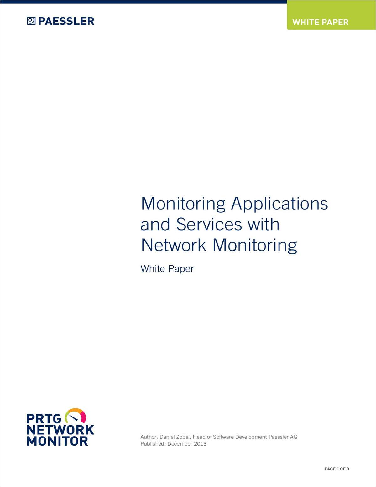 Monitoring Applications and Services with Network Monitoring