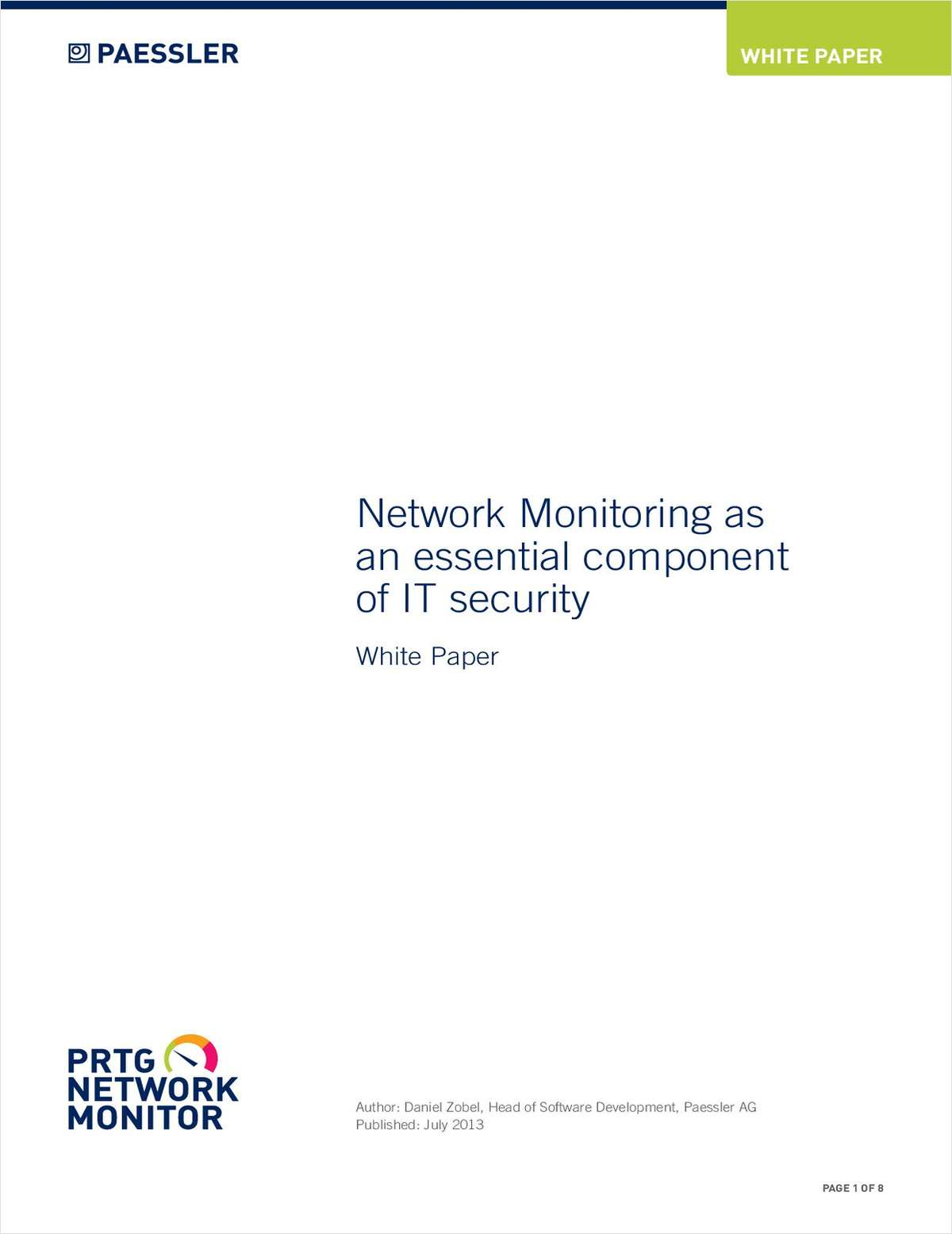 Network Monitoring as an Essential Component of IT Security