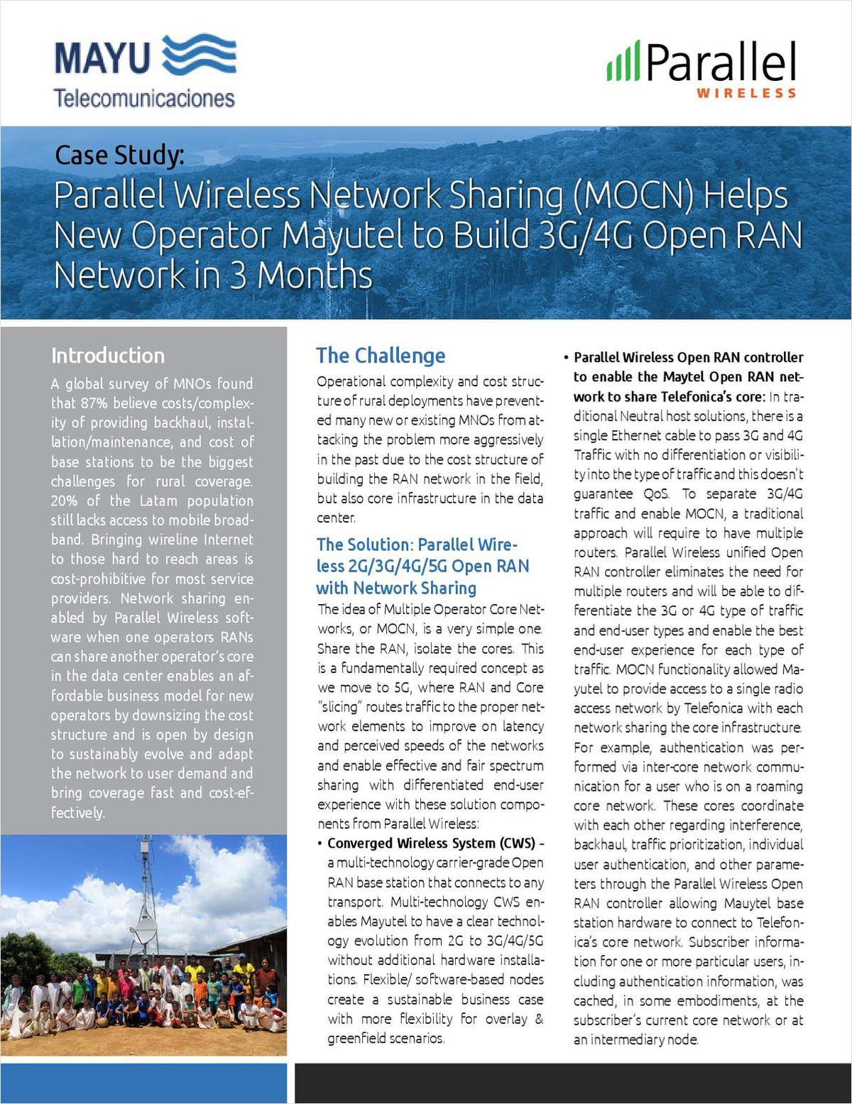 Parallel Wireless Helps Operators in the Americas Quickly and Easily Deploy 4G LTE with Open RAN