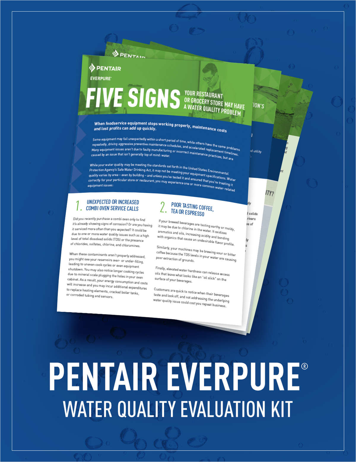 Pentair Everpure® Water Quality Evaluation Kit - Includes Free 7-Way Water Test Kit
