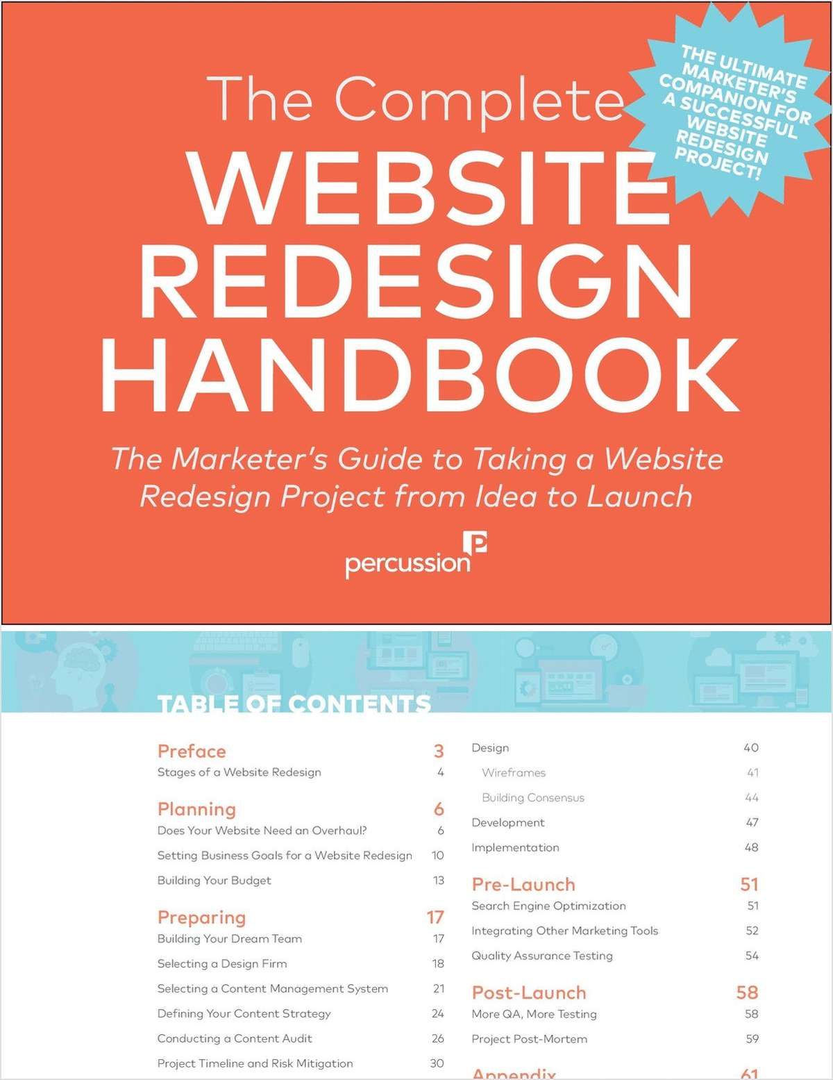 The Complete Website Redesign Handbook: 65-Page Guide to Taking a Successful Website Redesign Project from Idea to Launch