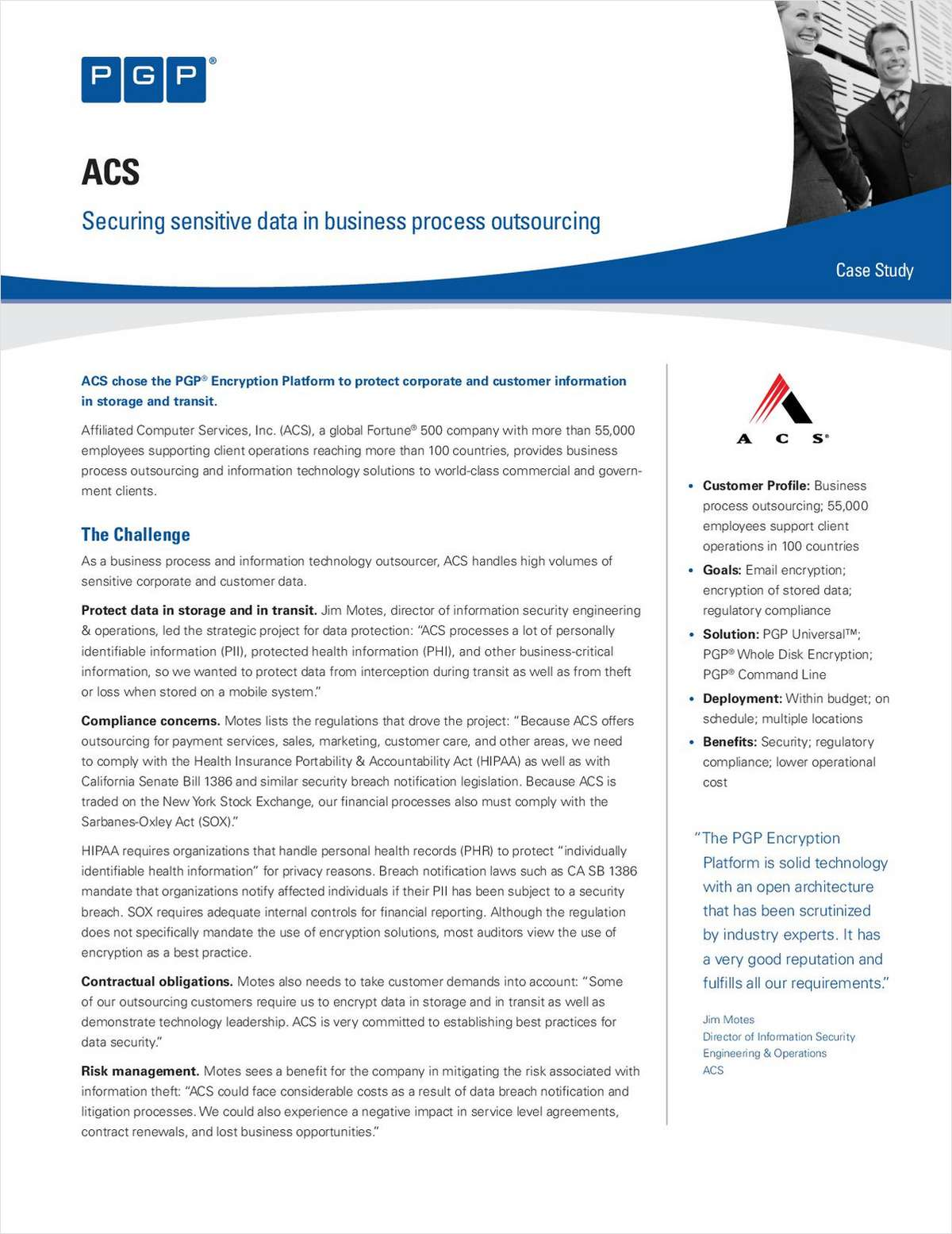 ACS: Securing Sensitive Data in Business Process Outsourcing