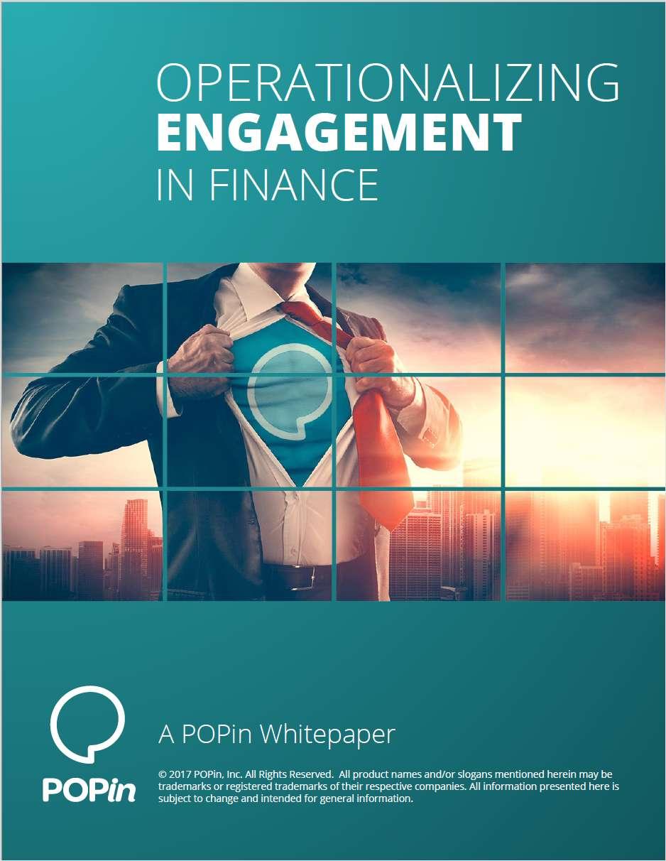 Operationalizing Engagement in Finance