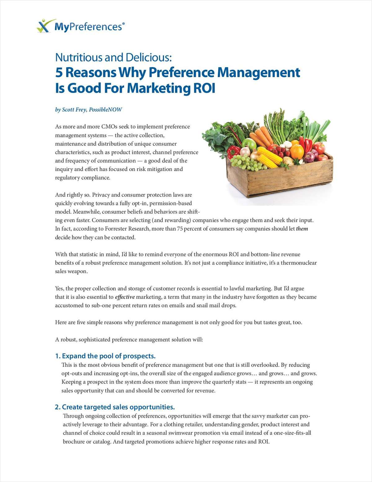 5 Reasons Why Preference Management Is Good For Marketing ROI