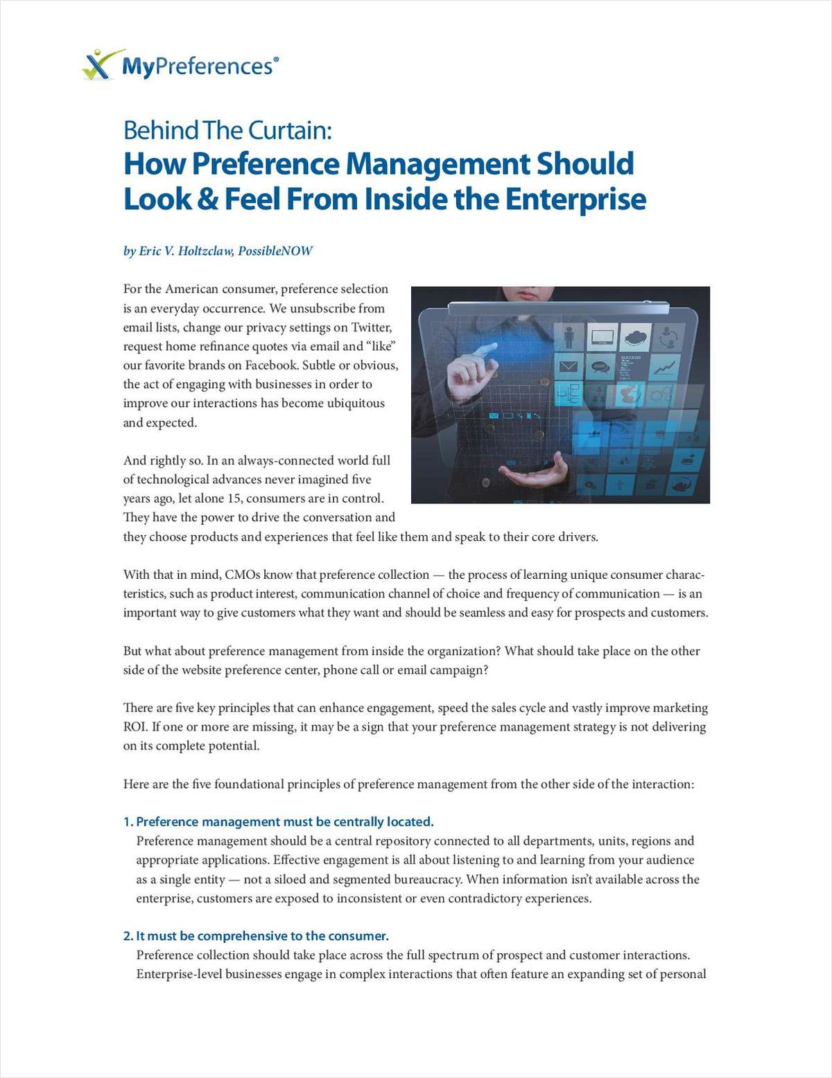 How Preference Management Should Look & Feel From Inside the Enterprise